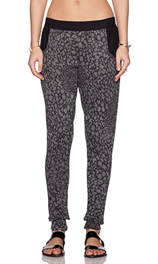 Blue Life Fit Cheetah Mesh Sweatpant in Taupe & Black