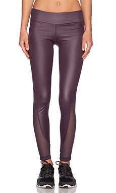 Blue Life Mesh Legging in Nocturnal Metallic