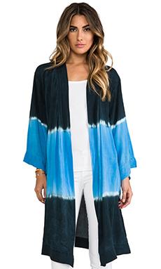 Blue Life Topanga Kimono on Ocean Blue Tie-Dye