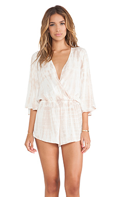 Blue Life Wild and Free Romper in Sand
