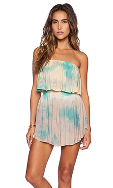 Blue Life Festival Romper in Mirage