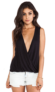 Blue Life Sleeveless Haley Top in Black