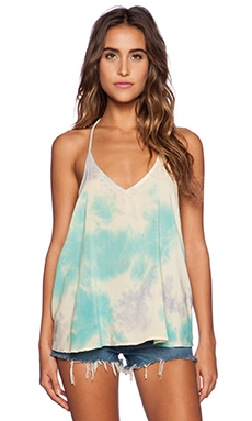 Blue Life V Neck Cami in Mirage
