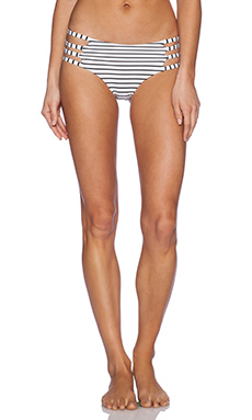 Blue Life Runaway Hipster Bikini Bottom in White Stripe