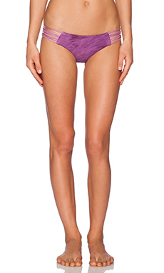 Blue Life Saguaro Hipster Bikini Bottom in Blackberry