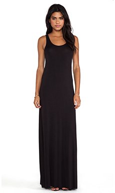 Bella Luxx Maxi Tank Dress in Black