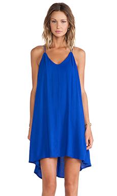 Bella Luxx Crepe Trapeze Dress in Sapphire