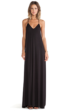 Bella Luxx Knit Trapeze Maxi in Black