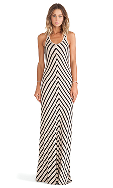 Bella Luxx Sweater Maxi Dress in Prague Stripe