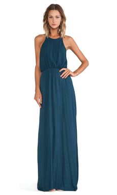 Bella Luxx Column Tank Dress in Midnight Teal