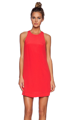 Bella Luxx Racerback Shift Dress in Scarlett