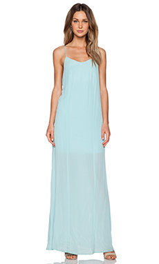 Bella Luxx Low Back Maxi Dress in Seagreen