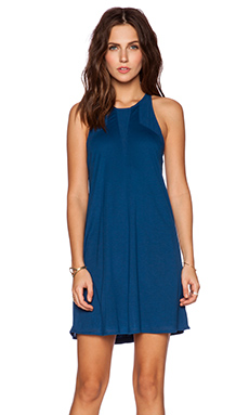 Bella Luxx Geometric A-Line Dress in Azul