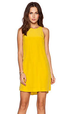 Bella Luxx Racerback Shift Dress in Chartreuse