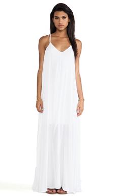 Bella Luxx Trapeze Maxi Dress in White