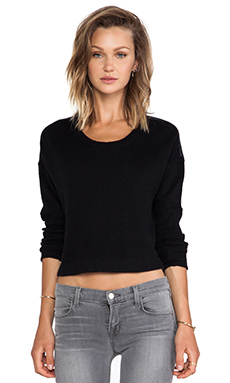 Bella Luxx Paneled Sleeve Sweater in Black