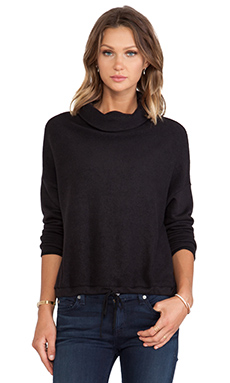Bella Luxx Funnel Neck Pullover in Black
