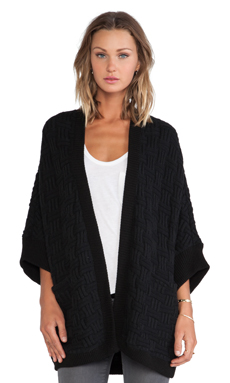 Bella Luxx Oversized Cardigan in Black
