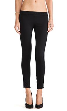 Bella Luxx Leather Trim Legging in Black