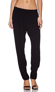 Bella Luxx Relaxed Fit Pant in Black