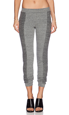 Bella Luxx Skinny Slouch Sweatpant in Heather Grey