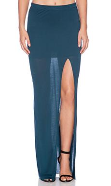 Bella Luxx Column Skirt in Midnight Teal