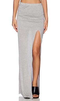 Bella Luxx Column Skirt in Heather Grey