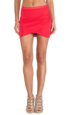 Bella Luxx Tulip Mini Skirt in Rouge