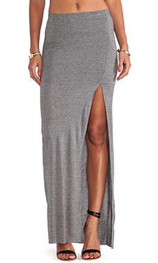 Bella Luxx Column Skirt in Ash Heather