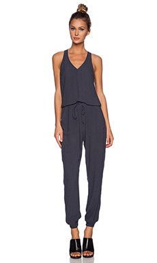 Bella Luxx V Neck Jumpsuit in Slate