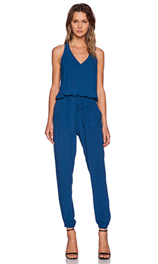 Bella Luxx V Neck Jumpsuit in Azul