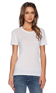Bella Luxx Linen Tee in White