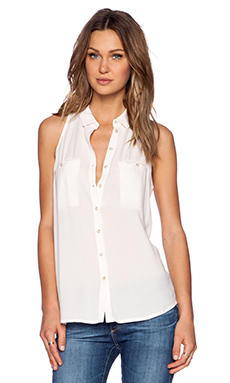 Bella Luxx Pocket Button Up Tank in Pastel Pink