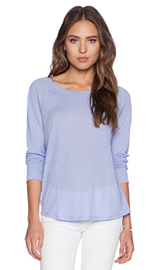 Bella Luxx Linen Raglan Long Sleeve in Powder Blue
