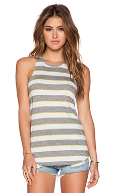 Bella Luxx Slouchy Tank in Scottsdale Stripe