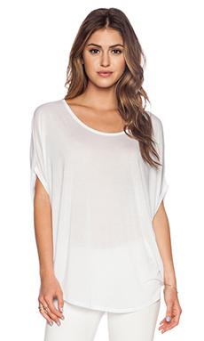 Bella Luxx Circle Drape Top in White