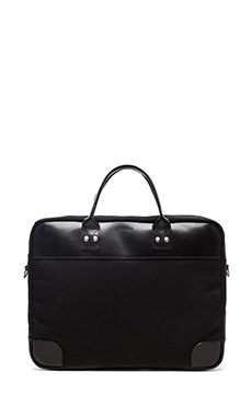 Billykirk No. 300 Padded Briefcase in Black Wax & Black