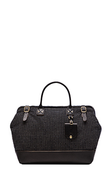 Billykirk No. 165 Medium Carryall in Navy Diamond