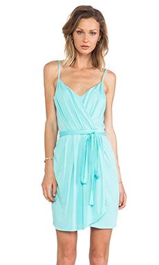 Bobi Jersey Wrap Dress in Aqua