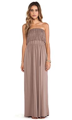 Bobi Light Weight Jersey Strapless Dress in Java