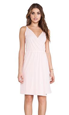 Bobi Supreme Jersey Wrap Dress in Petal Pink
