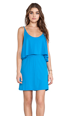 Bobi Modal Jersey Tank Mini Dress in Dream Sea