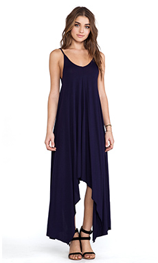 Bobi Modal Jersey Asymmetric Dress in Yacht