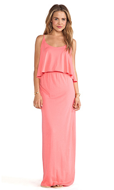 Bobi Modal Jersey Tank Maxi Dress in Sunset