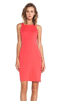 Bobi Supreme Jersey Midi Dress in Berry Red