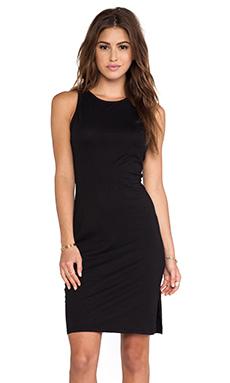 Bobi Supreme Jersey Midi Dress in Black
