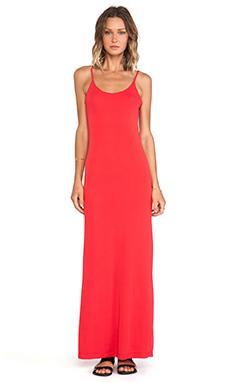 Bobi BLACK Tank Maxi Dress in Red