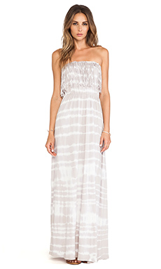 Bobi Light Weight Jersey Strapless Maxi Dress in Shore