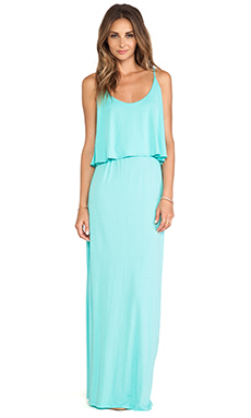 Bobi Jersey Tank Maxi Dress in Aqua