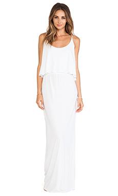 Bobi Jersey Tank Maxi Dress in White